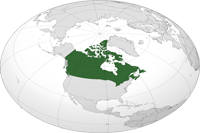 canada Location in World Map