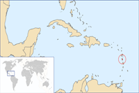 dominica Location in World Map