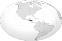Honduras Location in World Map