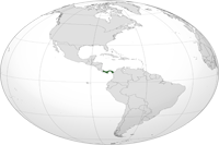 Panama Location in World Map