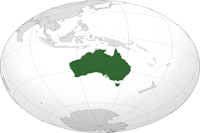 australia Location in World Map