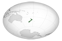 Location of New Zealand