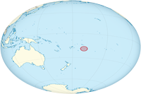 niue Location in World Map
