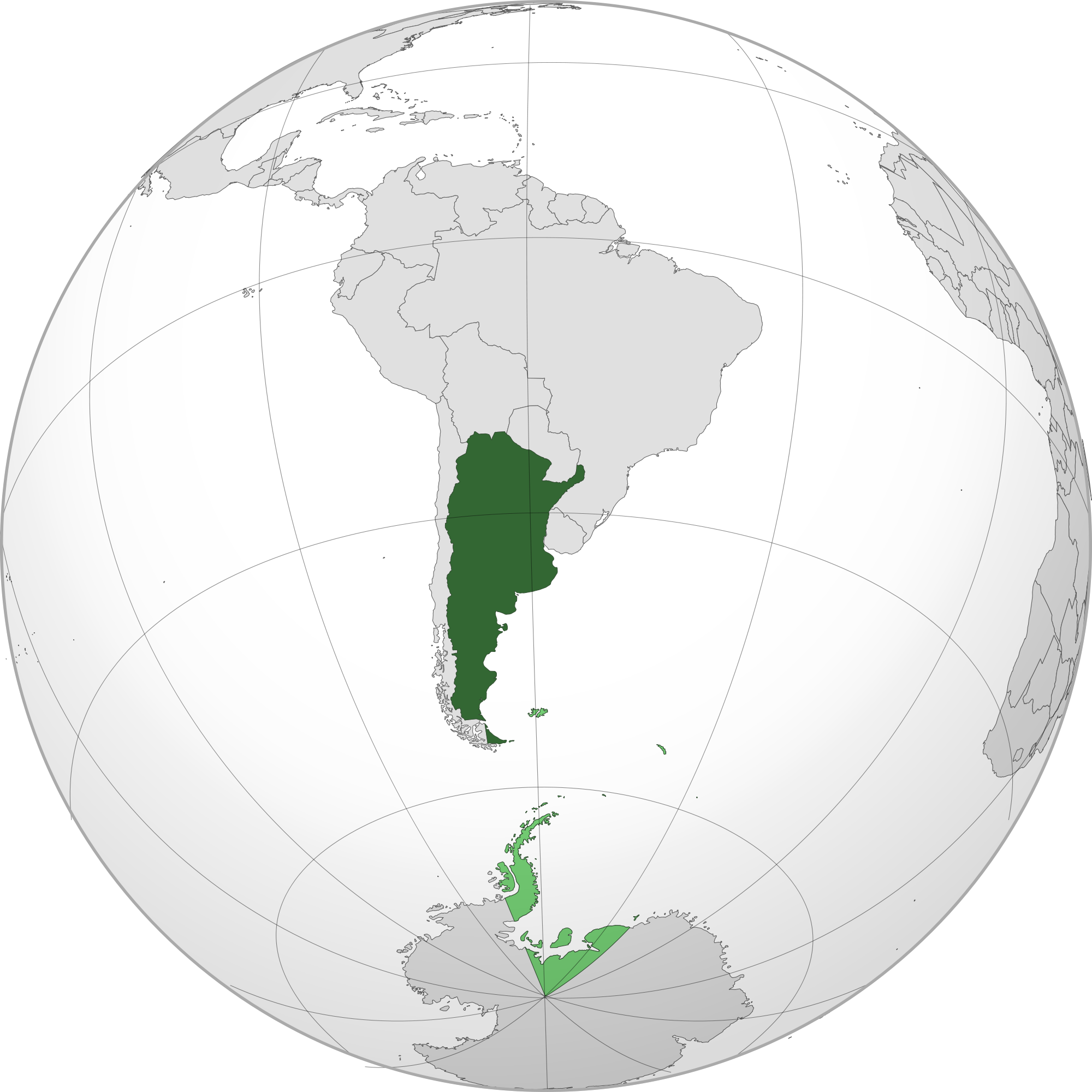 Location of the argentina in the World Map