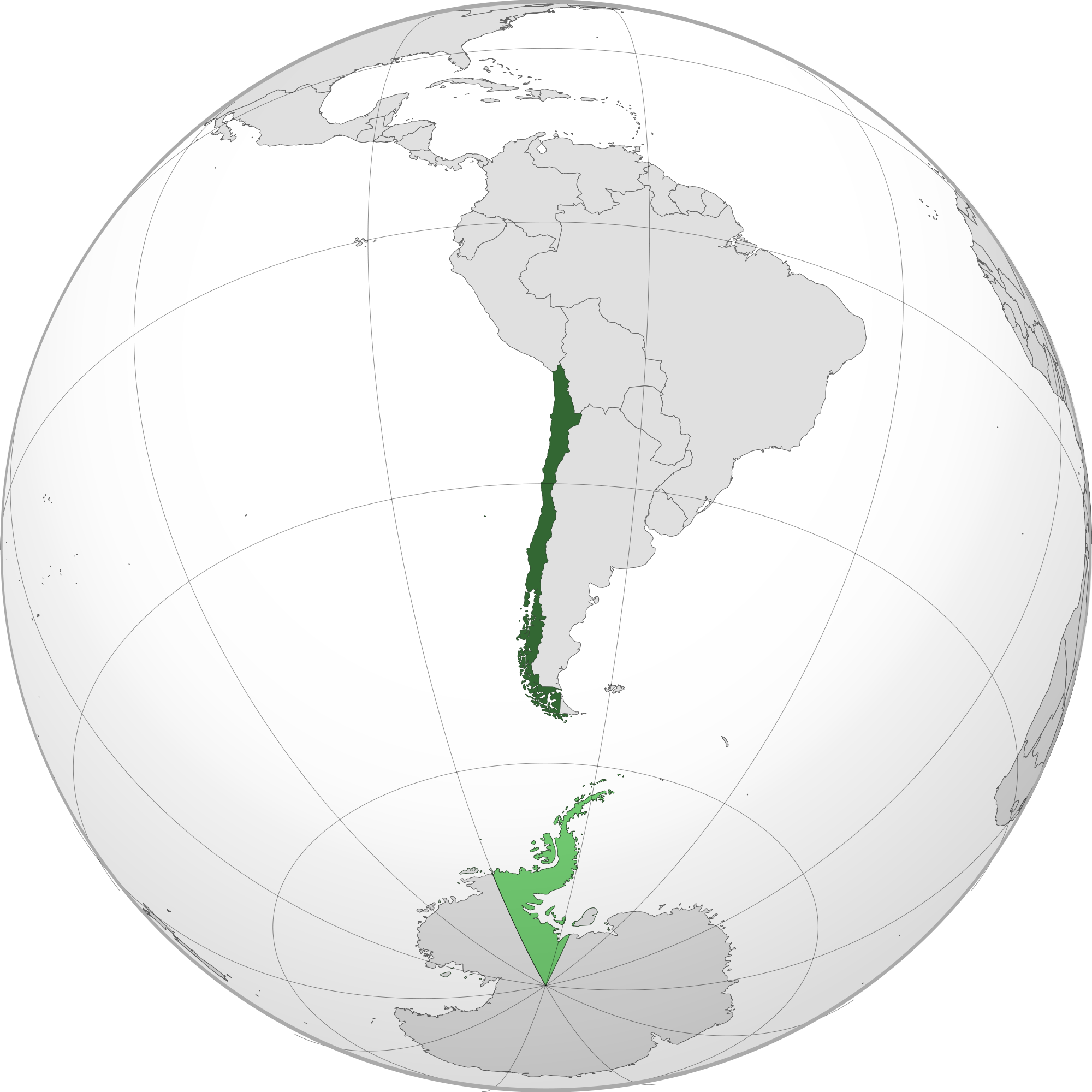 Location of the chile in the World Map