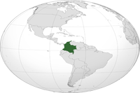 colombia Location in World Map
