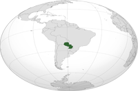 paraguay Location in World Map