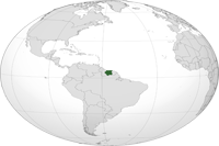 suriname Location in World Map