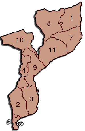 Mozambique Administrative divisions Map