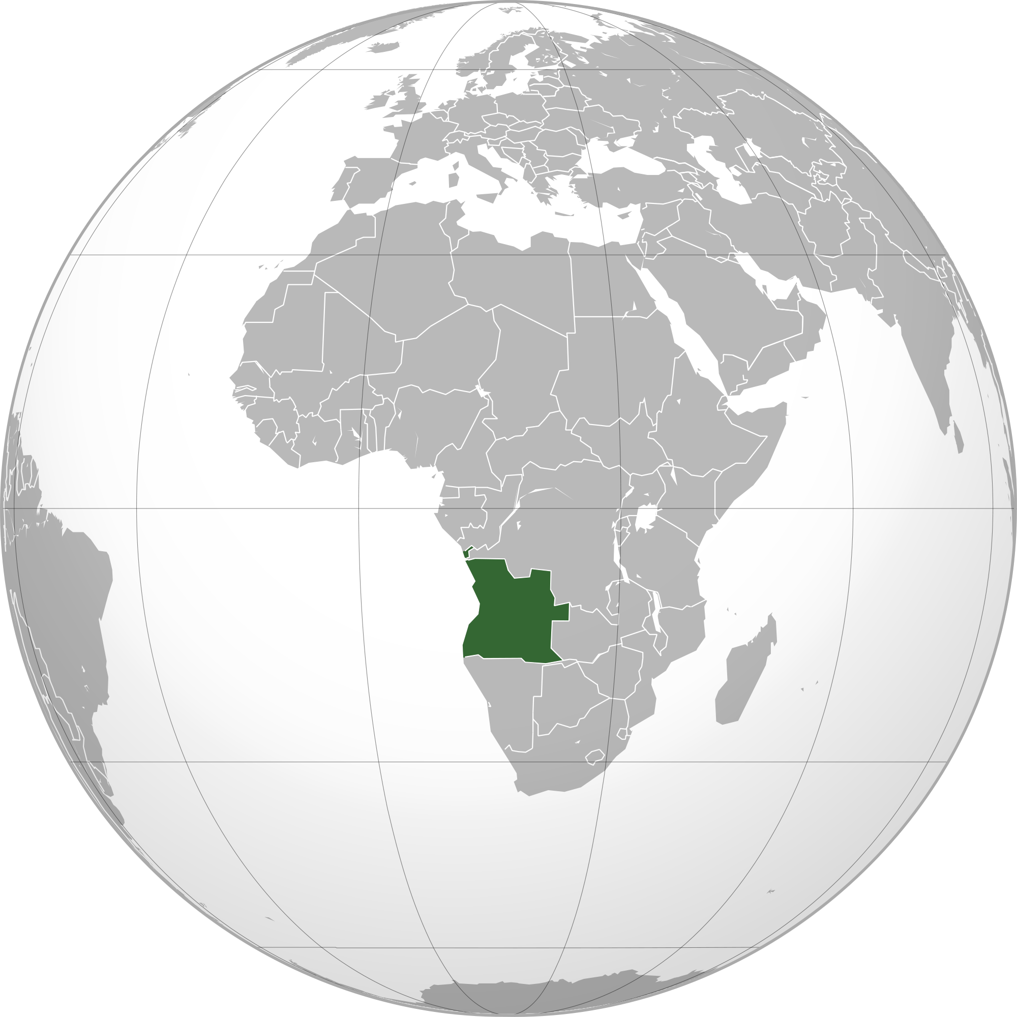 Picture of: Location Of The Angola In The World Map