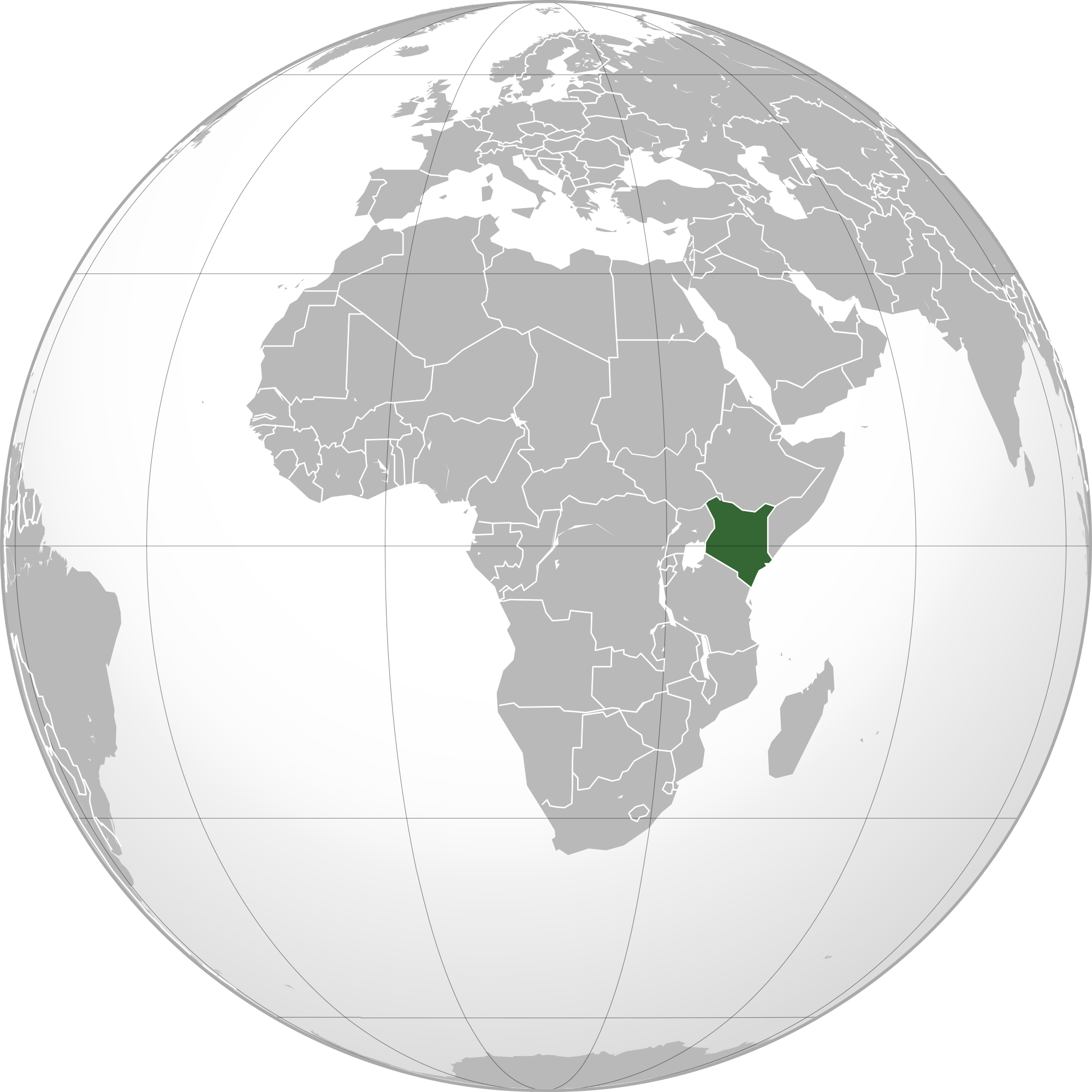 Image of: Location Of The Kenya In The World Map