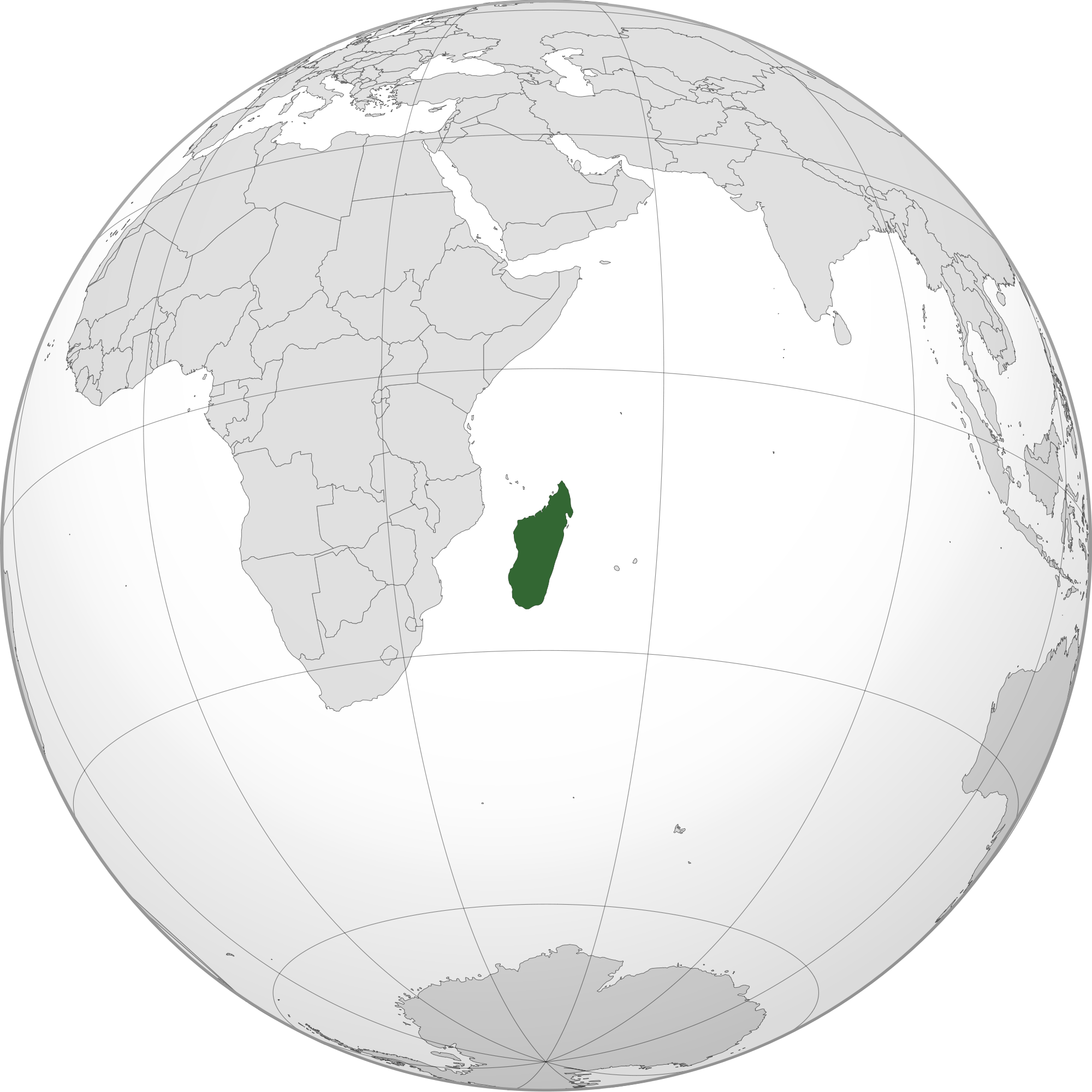 Location of the Madagascar in the World Map