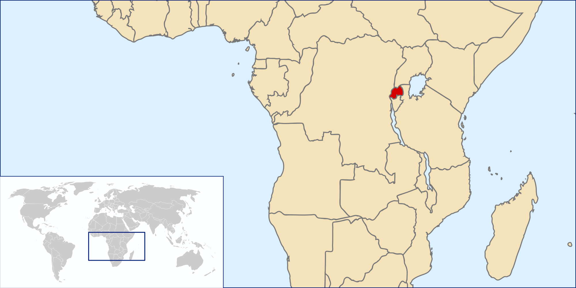 Image of: Location Of The Rwanda In The World Map