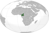 Cameroon Location in World Map