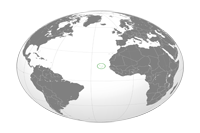 Cape Verde Location in World Map
