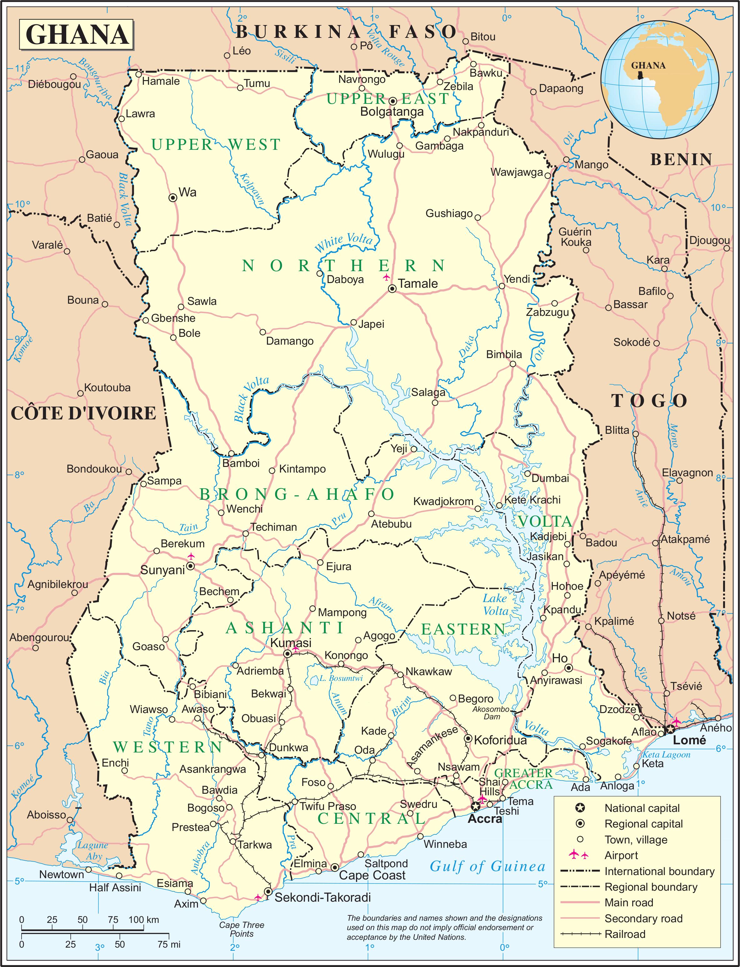 Map of the Ghana