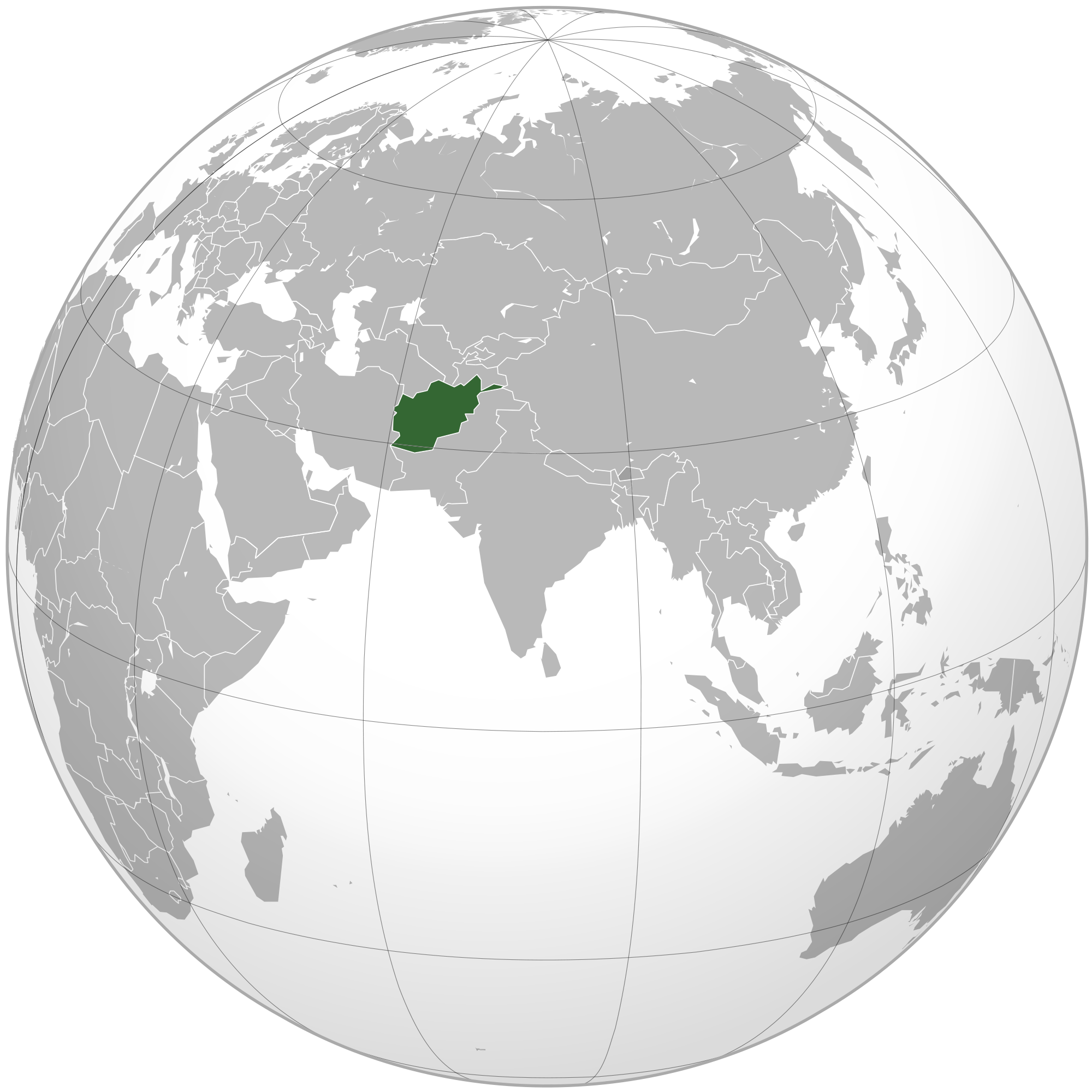 Location of the Afghanistan in the World Map