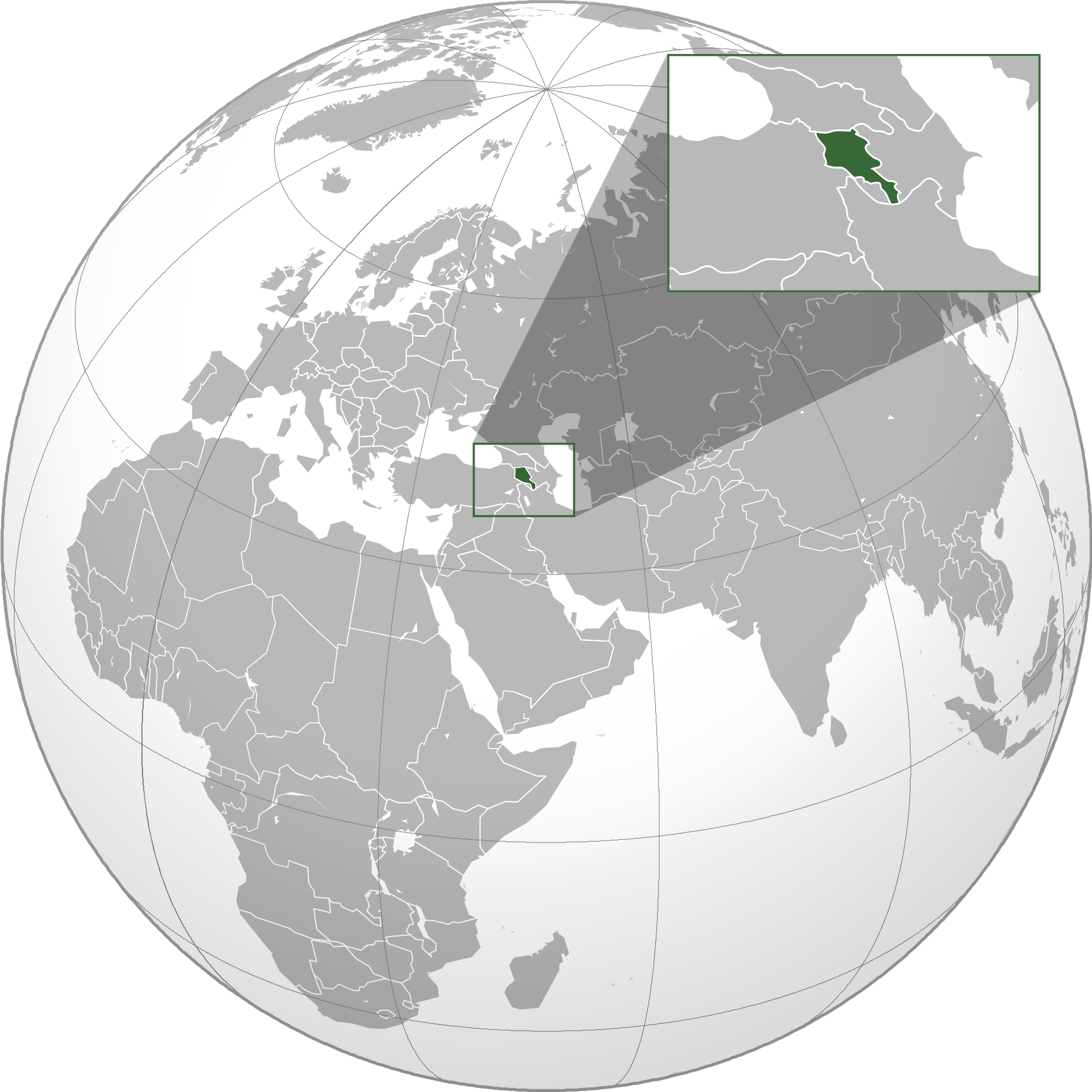 Picture of: Location Of The Armenia In The World Map