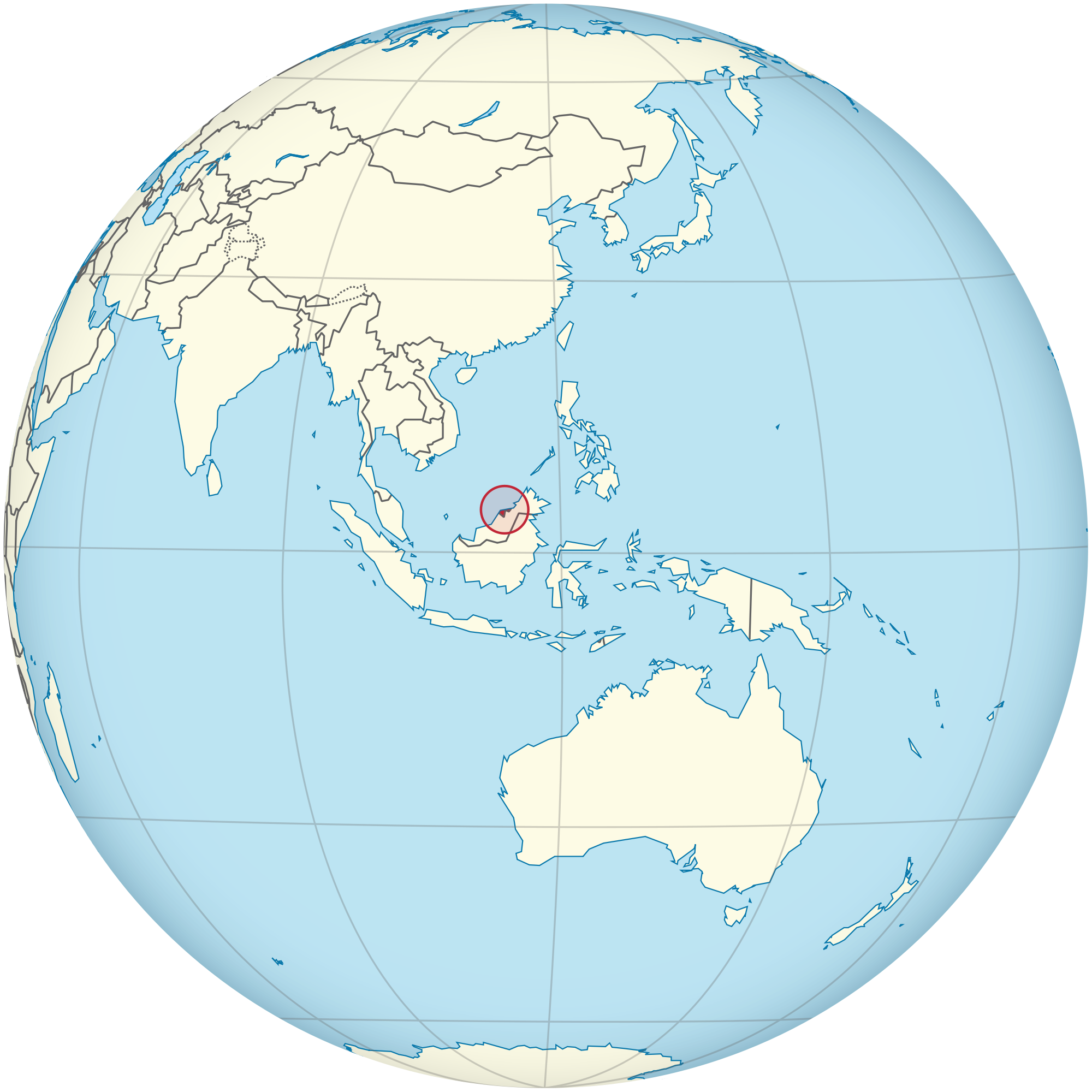 brunei location on world map Location Of The Brunei In The World Map brunei location on world map