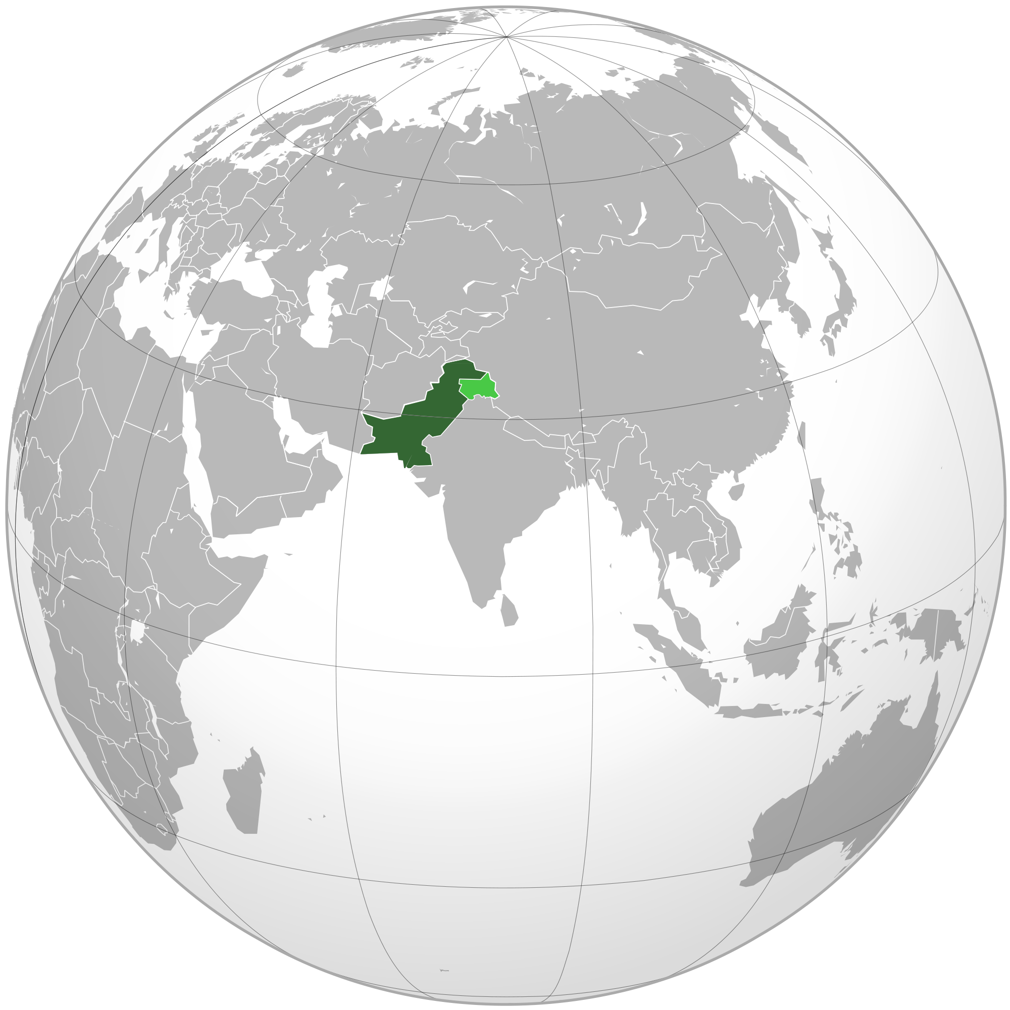 Location Of The Pakistan In The World Map