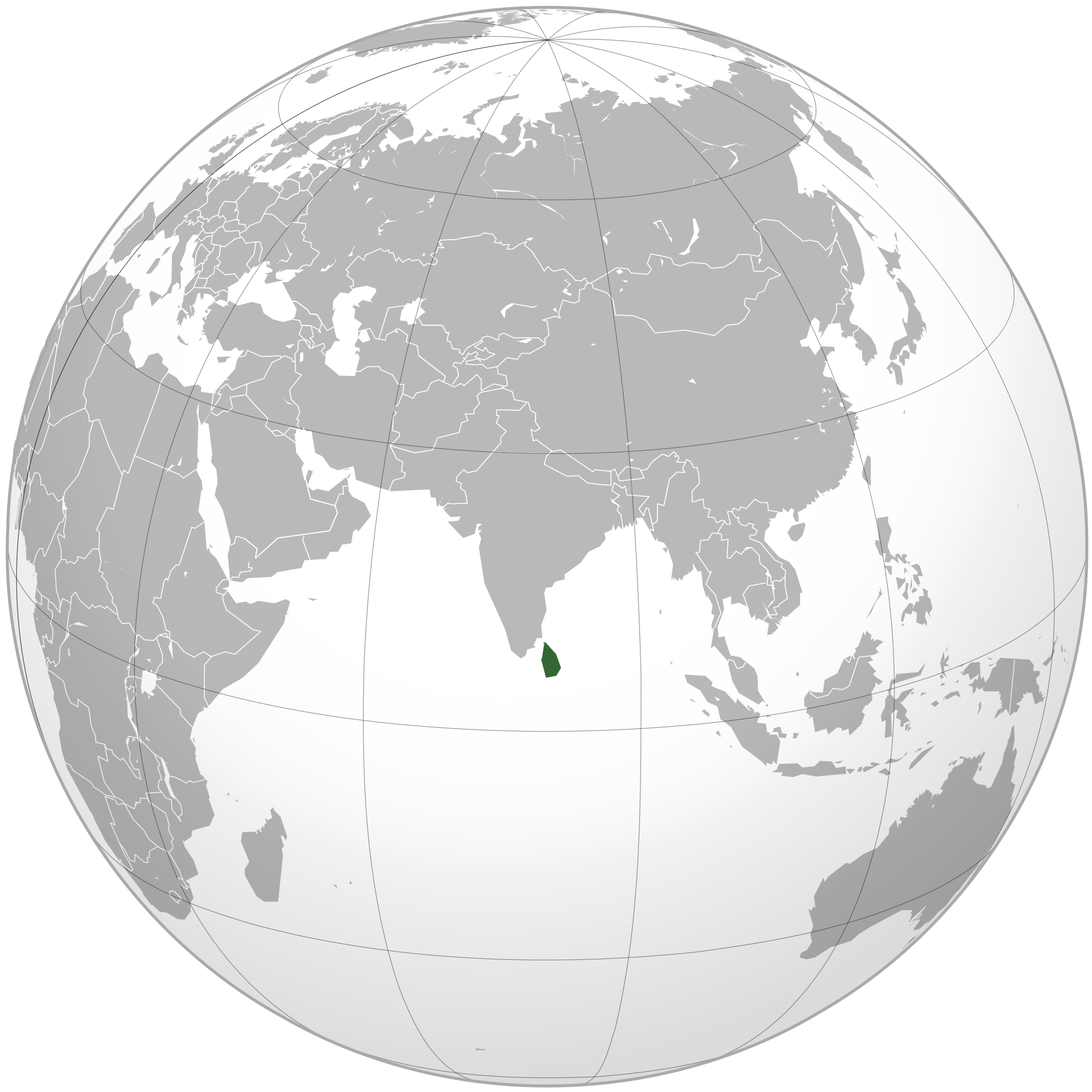 Location of the Sri Lanka in the World Map