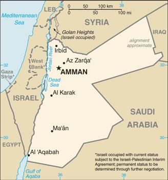 Map Of Asia Jordan.Map Of The Jordan
