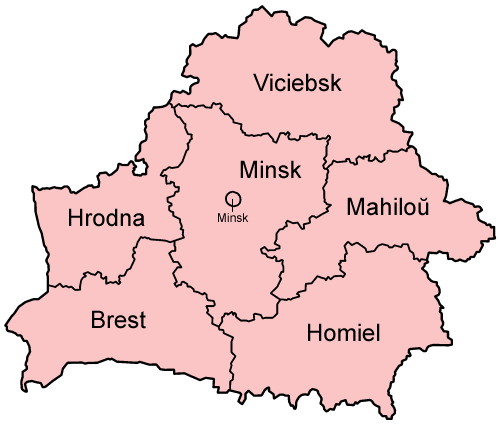Belarus Administrative divisions Map