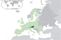 Austria Location in World Map