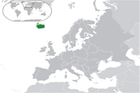 Iceland Location in World Map