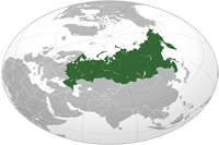 Russia Location in World Map