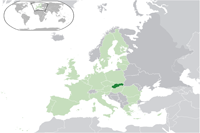 Slovakia Location in World Map