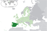 Spain Location in World Map
