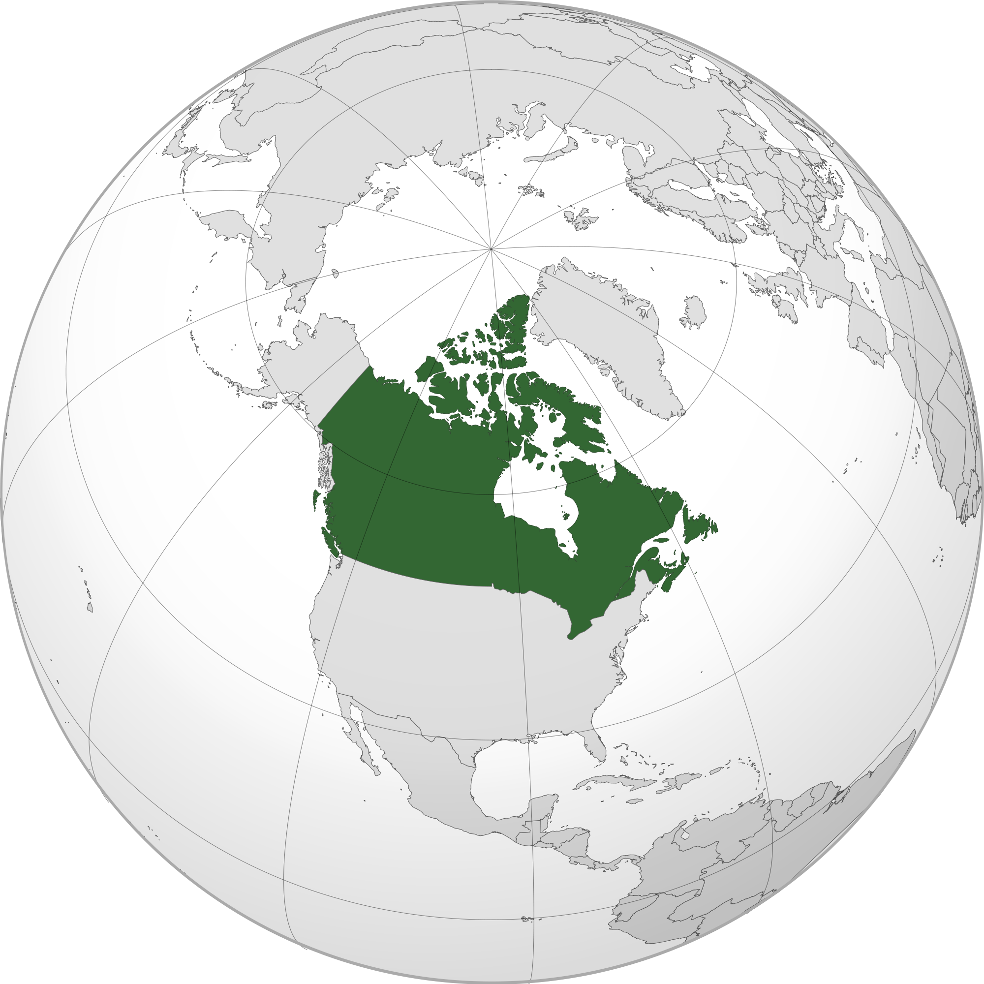 Canada Map Of The World.Location Of The Canada In The World Map