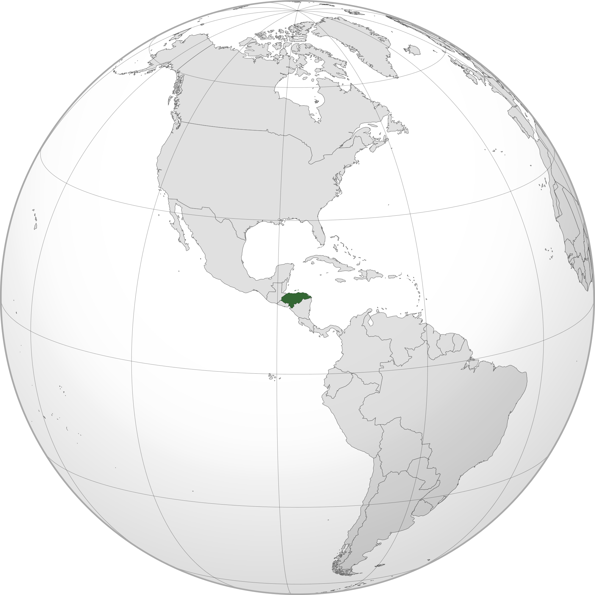Picture of: Location Of The Honduras In The World Map