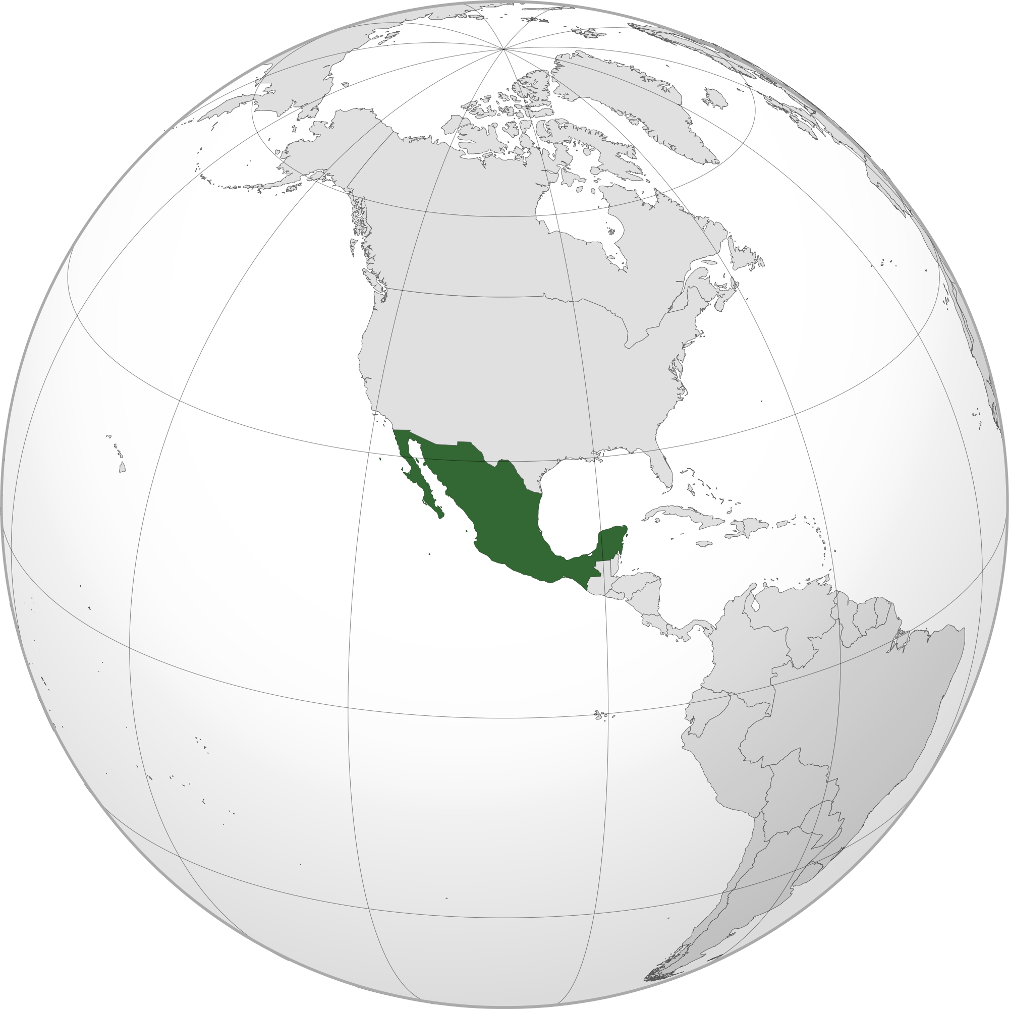 Location of the Mexico in the World Map