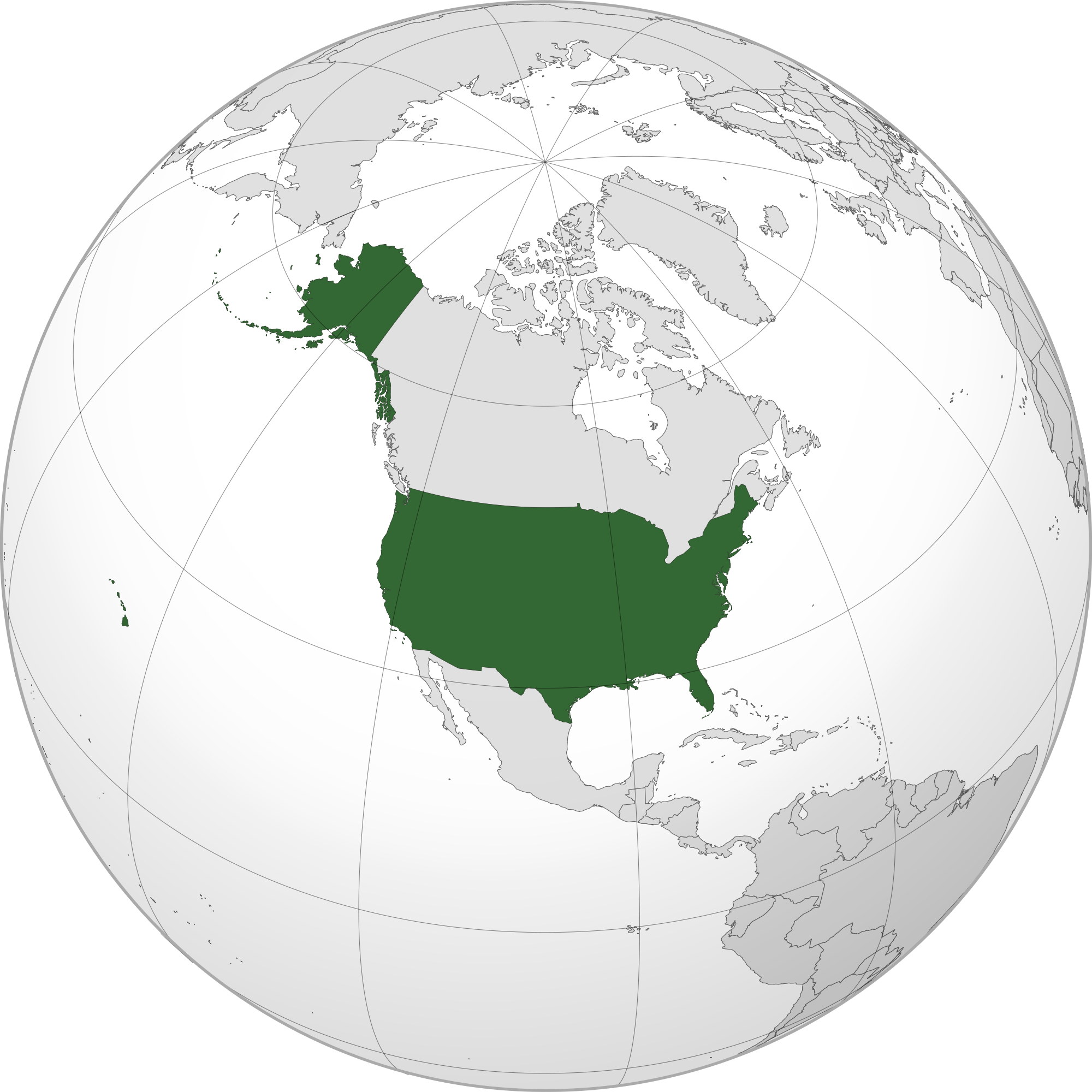 World Map United States Location of the United States in the World Map World Map United States