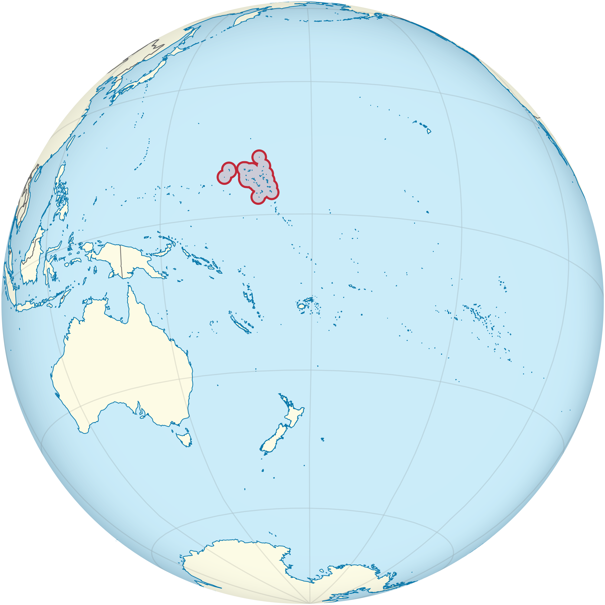 Location of the Marshall Islands in the World Map