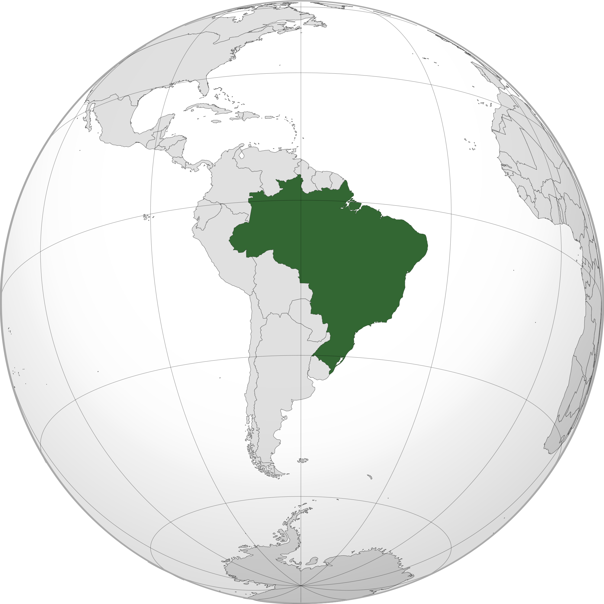 brazil in the world map Location Of The Brazil In The World Map brazil in the world map