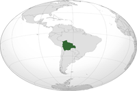 Location of Bolivia